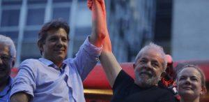 lula-e-haddad--300x146 Ipespe: 'Apoiado por Lula', Haddad se aproxima de Bolsonaro