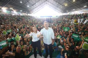 michelline-e-lucélio 'Não vai ter lapada, vai ter chuva de votos', diz Lucélio