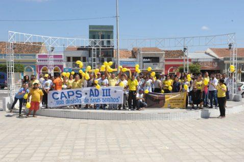 Caminhada-Setembro-Amarelo-1024x682 Setembro Amarelo foi tema de caminhada do CAPS ADIII em Monteiro