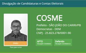 cosme-prefeito-de-sao-joao-do-cariri-300x188 MP recomenda interdição de mandato de prefeito de cidade o Cariri da PB por suspeita de Alzheimer