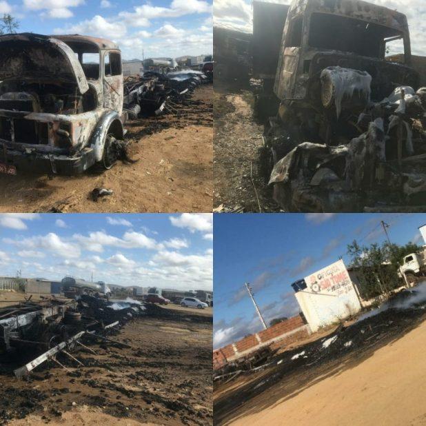 incendio-1024x1024 Carga de carvão em caminhão pega fogo e destrói Caminhão e Carreta em Monteiro.