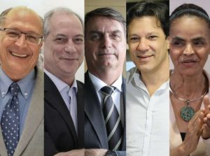 presidenciaveis-300x223 Pesquisa Datafolha: Bolsonaro, 24%; Ciro, 13%; Marina, 11%; Alckmin, 10%; Haddad, 9%
