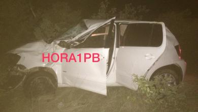 Motorista perde o controle da direção e capota o veículo em Monteiro 2