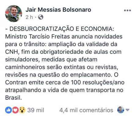 desburocratização-445x380 Bolsonaro amplia validade da CNH para 10 anos e acabar com simuladores em autoescola