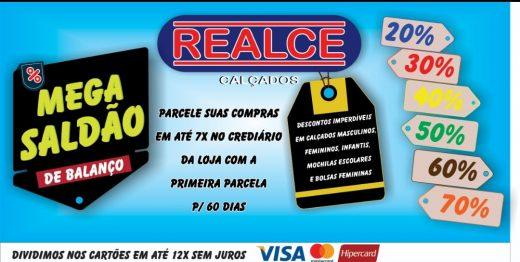 realce-520x262 MEGA SALDÃO DE BALANÇO na loja Realce Calçados Monteiro, nesta segunda-feira