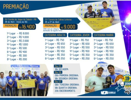Prefeito Dalyson Neves confirma premiações da Corrida de Jegues e Torneio de Cabras Leiteiras 1