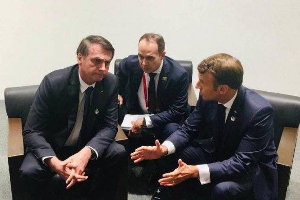 15617116995d15d453c66b6_1561711699_3x2_md-585x390 Após anunciar cancelamento, Bolsonaro encontra Macron e o convida a visitar Amazônia