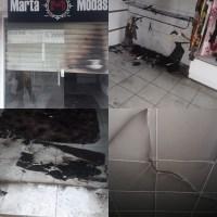 Loja de roupas é incendiada em Monteiro
