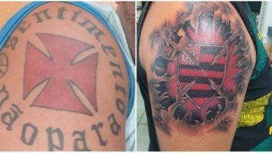 Ex-vascaíno cobre tatuagem da cruz-de-malta com escudo do Flamengo: 'Feliz' 5