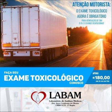 67696346_2513847535345717_2309856849425334272_n-390x390 Realize seu exame Toxicológico para renovação da CNH no Laboratório LABAM