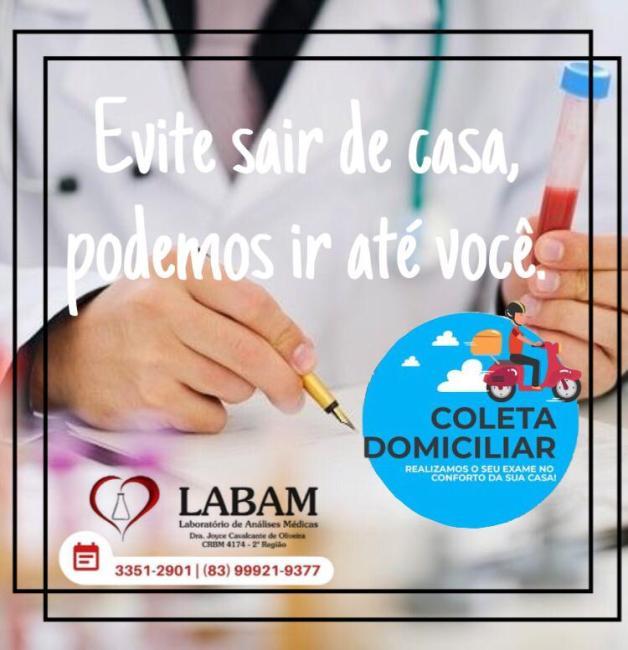 IMG-20200320-WA0474-628x650 Em Monteiro: O laboratório LABAM oferece coleta domiciliar