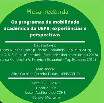 """uepb-404x400 UEPB Monteiro realizará mesa redonda com o tema """"Os programas de mobilidade Acadêmica da UEPB"""""""