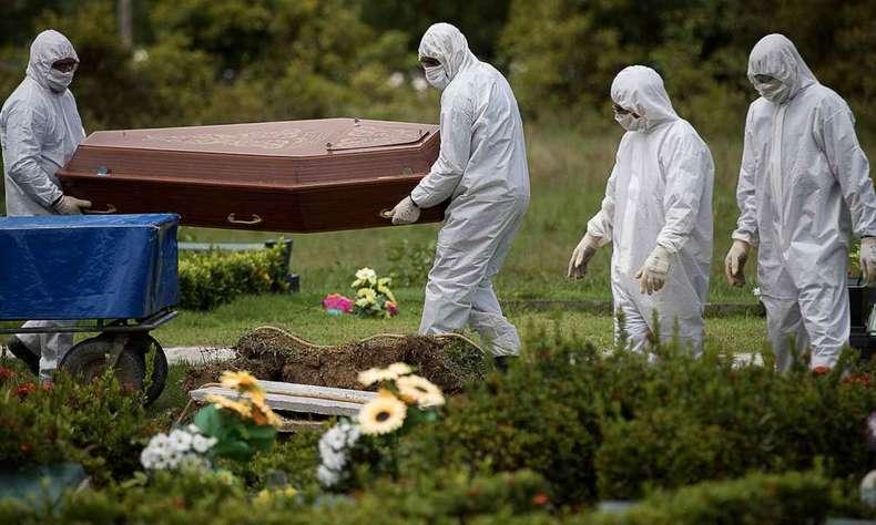mortes-covid-19 Brasil ultrapassa EUA na média móvel de mortes por Covid-19