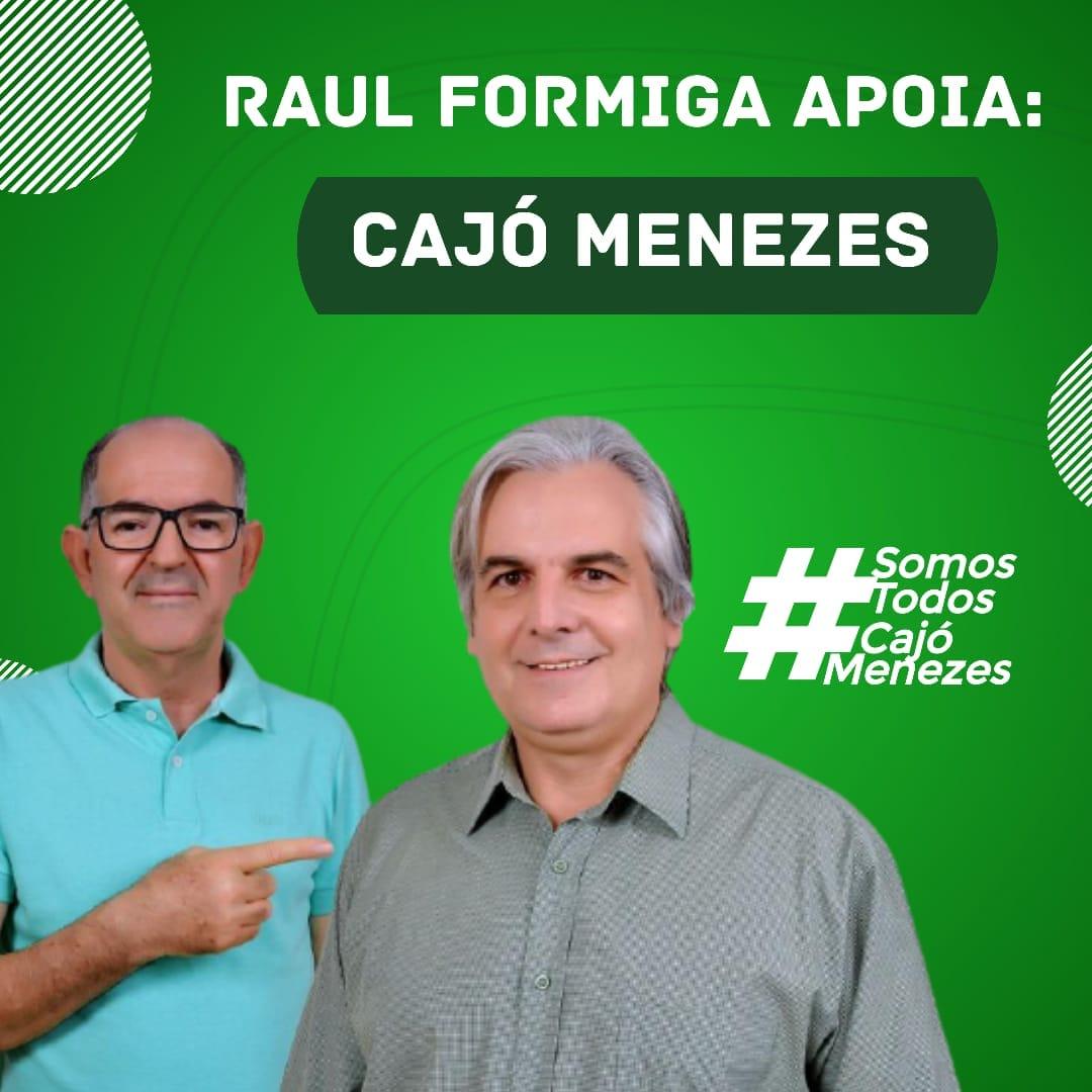 cajo-raul-formiga Vereadores Chuta e Raul Formiga anunciam apoio a reeleição de Cajó Menezes