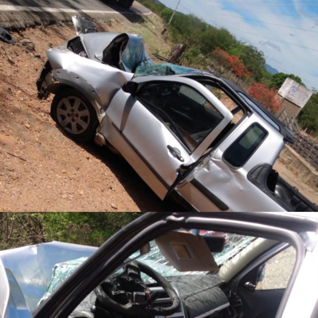 IMG_20201210_101555 Motorista perde controle de carro e colide com árvore em Monteiro