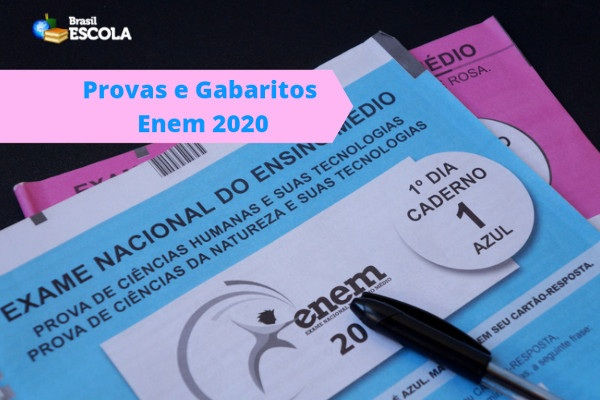 provas-gabaritos-enem-2020 Inep divulga gabaritos do Enem 2020; confira