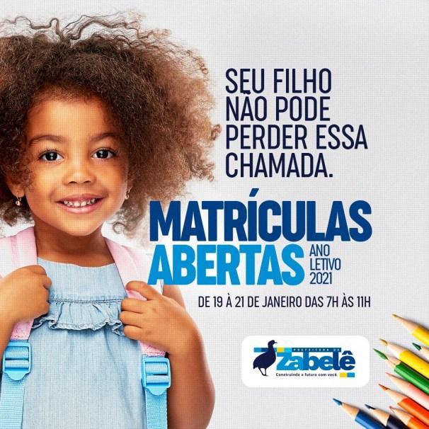 zabele-matriculas Prefeitura de Zabelê abre período para matrícula na Rede Municipal de Ensino