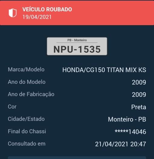 IMG_20210421_204738 Homem tem moto tomada de assalto na Vila Santa Maria em Monteiro