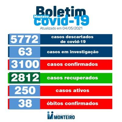 0405-2-400x400 Secretaria de Saúde de Monteiro divulga boletim oficial sobre covid desta terça-feira