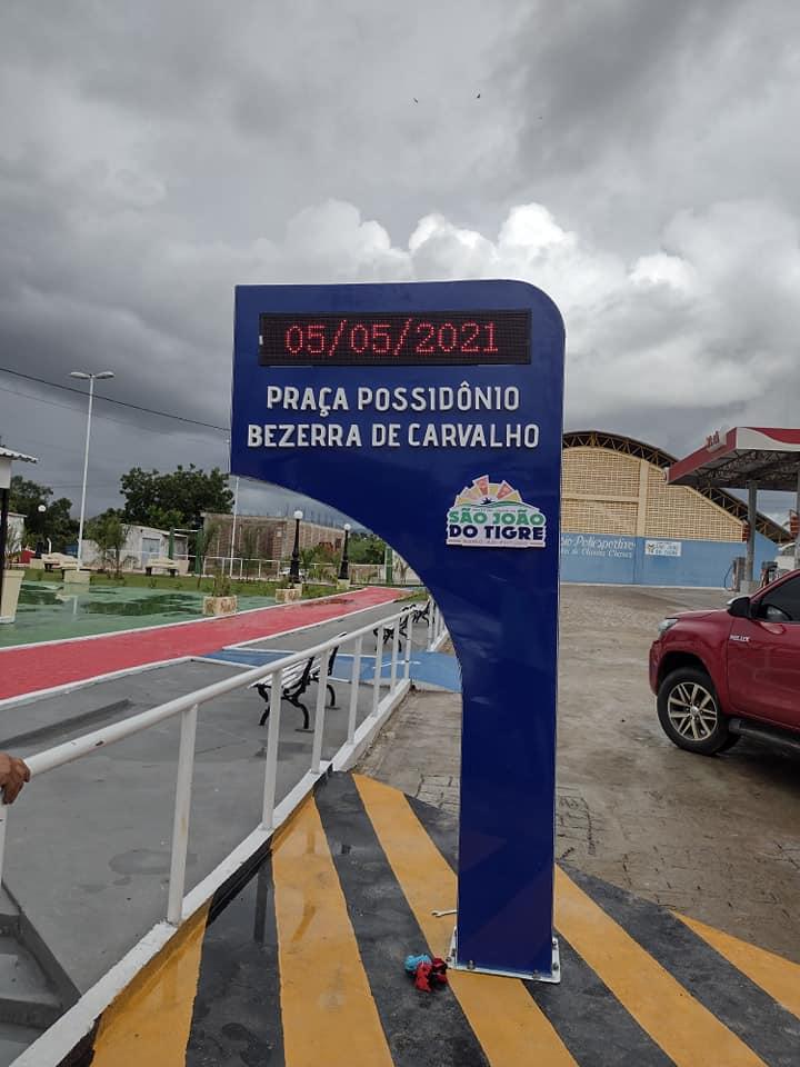 183325831_3987716961347097_7559401903634588505_n Prefeito de São João do Tigre vistoria obras da praça Possidônio Bezerra de Carvalho
