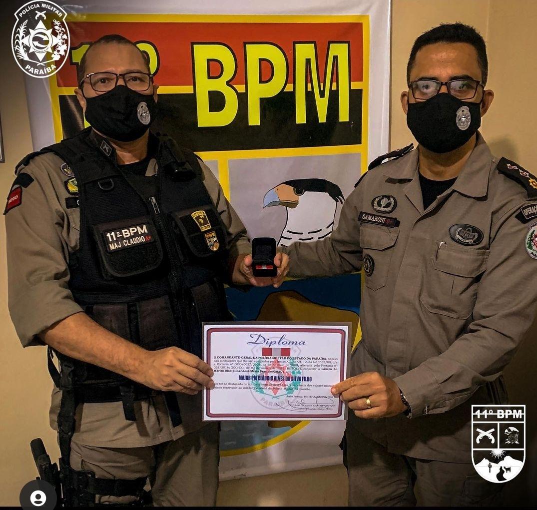IMG_20210506_144843 11º Batalhão de Polícia Militar de Monteiro, realiza solenidade alusiva ao patrono das Polícias Militares e entrega medalhas