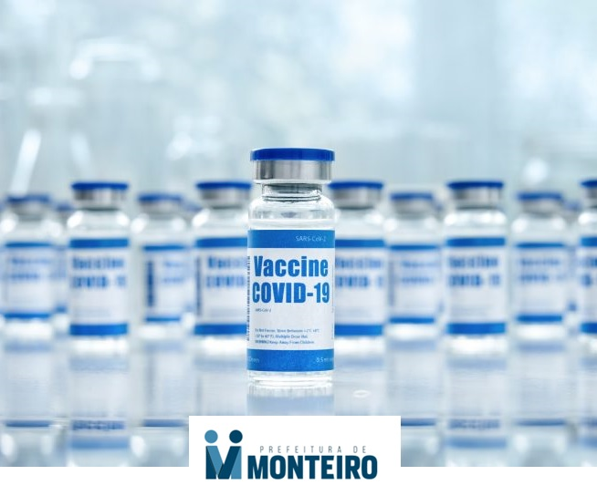 Vacina Mais vacina em Monteiro: garis, gestantes, puérperas, profissionais da saúde e pessoas com 57 anos ou mais vão receber a vacina esta semana