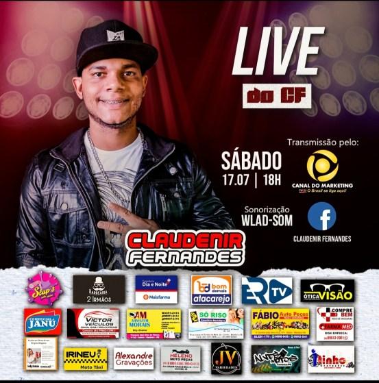 IMG_20210716_150258 Cantor Claudenir Fernandes realiza live na noite deste sábado (17)