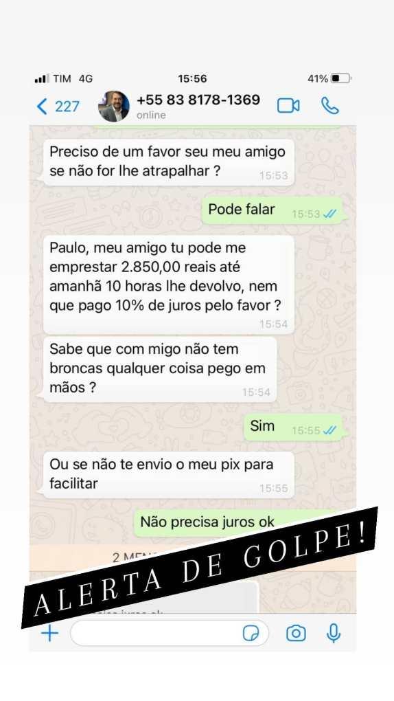 victorpaivapb_20210815_174232_0 Golpe no WhatsApp: Criminosos utilizam a foto do perfil do apresentador do Correio Debate Victor Paiva para pedir dinheiro