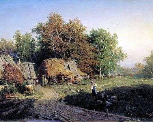 Описание картины Федора Васильева «Деревня»👍