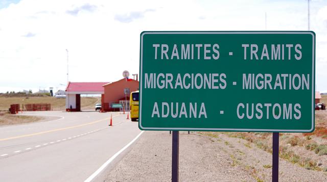 El paso fronterizo Monte Aymond - Foto: OPI Santa Cruz/Francisco Muñoz