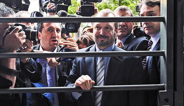 Martín Sabbatella ingresa a Clarín días atras - Foto: Clarín.com