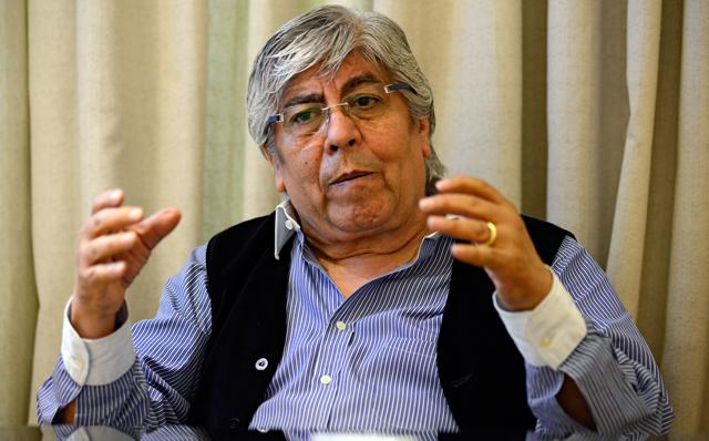 El Secretario General del Sindicato de Camioneros Hugo Moyano - Foto: OPI Santa Cruz/Francisco Muñoz