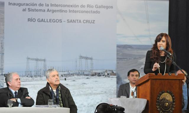Otro anunció del interconectado pero en Río Gallegos - Foto: OPI Santa Cruz/Francisco Muñoz