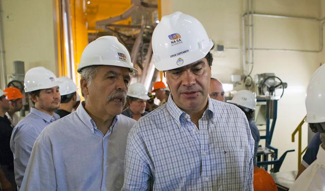 El jefe de Gabinete, Jorge Capitanich junto a Julio De Vido - Foto: Presidencia