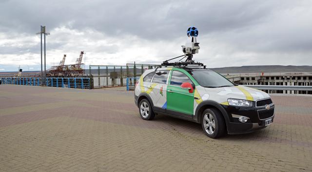 El vehículo de Google  Street View en Río Gallegos - Foto: OPI Santa Cruz/Francisco Muñoz