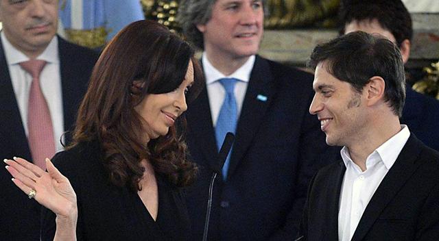 La Presidenta de la Nación junto a Axel Kicillof Ministro de Economia - Foto: web