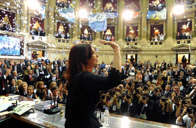 La Presidenta de la Nación en el Senado el pasado 2013 - Foto:
