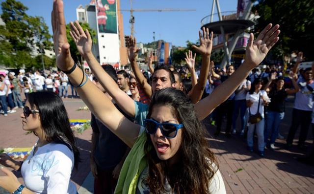 Los jovenes marchan en Venezuela - Foto: