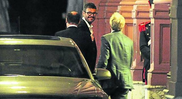 Marcelo Tinelli ingresa a la Casa Rosada semanas atrás - Foto: