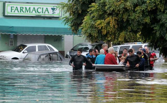 La inundación de La Plata en abril del 2013 - Foto: Perfil.com