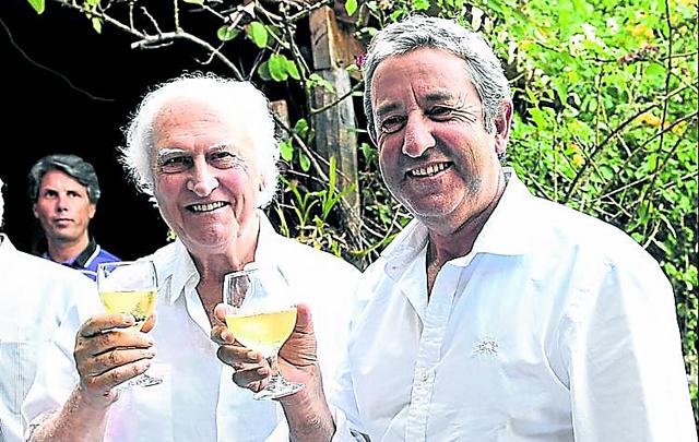Pino Solanas y Julio Cobos en Mendoza - Foto: Diario Clarín