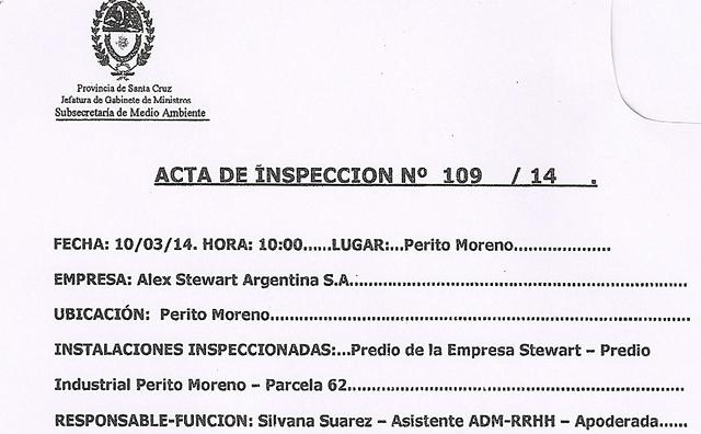 Los cateos en Alex Stewart dieron negativos, pero se confirman irregularidades en el manejo de residuos tóxicos - Foto: OPI Santa Cruz