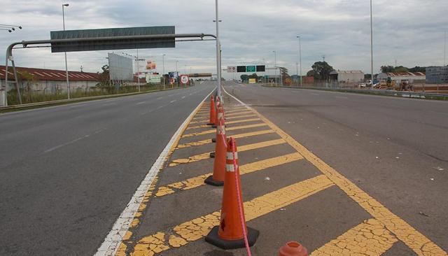 La autopista Illia esta mañana - Foto: La Nación