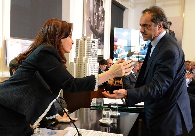 La Presidenta de la Nación junto a Daniel Scioli - Foto: Presidencia de la Nación