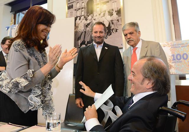 Ayer la presidenta en el acto en Casa Rosada - Foto: Presidencia