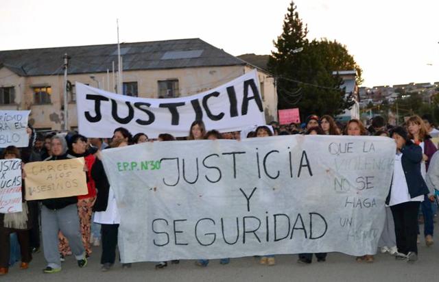 Ayer marcha y pedido de justicia en Río Turbio - Foto: Gentileza PatagoniaNexo