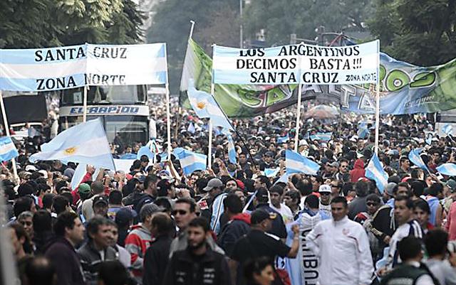 Moyano y Barrionuevo validaron su poder con una amplia movilización - Foto: La Nación