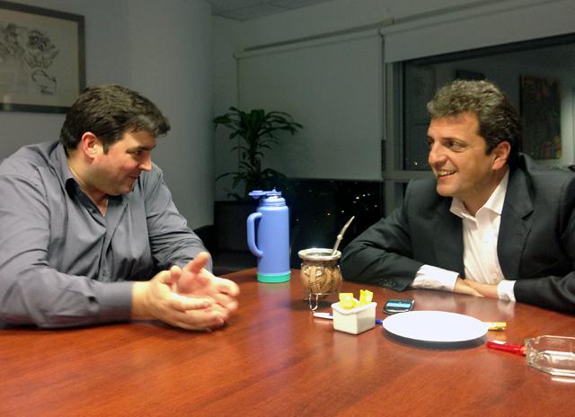 Ariel Ivovichm ex Jefe de Gabinete, se reunió con Sergio Massa - Foto: Prensa Sergio Massa