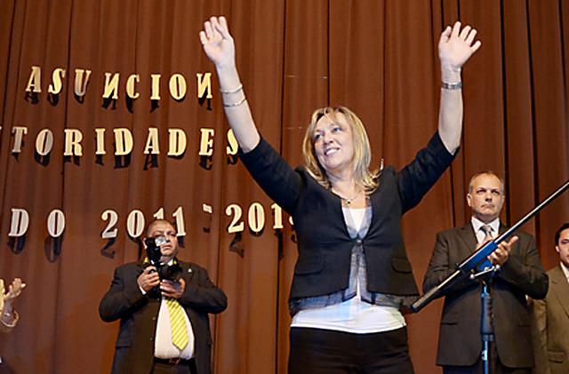 La intendente de Rawson Rossana Artero - Foto: prensa