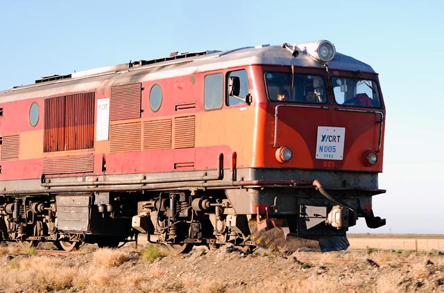 El tren de YCRT en Punta Loyola - Foto: OPI Santa Cruz/Francisco Muñoz